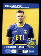 Christian Hanne Autogrammkarte 1 FC Lok Leipzig 2017-18 Original Sign+A 168951