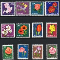 Poland 1964 Garden Flowers Full Fine Mounted USED Stamps Set
