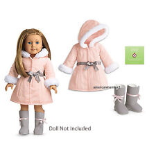"American Girl MY AG PRETTY PINK COAT SET for 18"" Dolls Retired Jacket Outfit NEW"