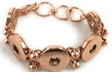 8-20mm High Quality Metal (Rose Gold Color) Fit 5 Buttons Click Snap On Bracelet