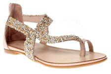 Sandali e scarpe infradito marrone per il mare da donna
