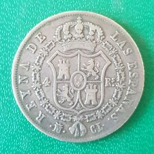More details for 1849 spain 4 four reales silver coin
