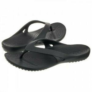 Crocs Crocband Flip Women Negro Chanclas para Mujer Black 001 41//42 EU