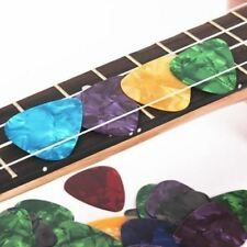 100Pcs Bass Guitar Picks Multi Color Nylon Custom Acoustic Electric Guitar