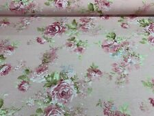 "Vintage  Antique Rose  Country PINK  Cotton 140cm/54"" Curtain/Craft Fabric"