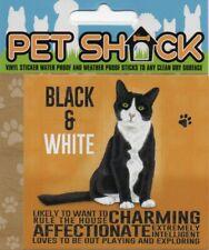 "CLASSIC SIGN AND DESIGN - ""BLACK & WHITE"" CAT/KITTEN/STICKER      *NEW & SEALED*"