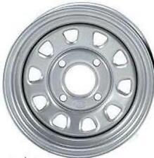 2-ITP Delta Silver Steel Wheel Front Suzuki 05-14 450/700/750 King Quad 371333