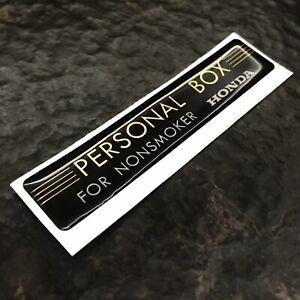 ★BANDO★ HONDA PERSONAL BOX STICKER DECAL CIVIC CRX NO SMOKING JDM RARE GENUINE