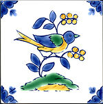 Mediterranean Italian Ceramic Tiles - Nightingale 4x4""