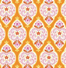 Free Spirit Dena Designs - Sunshine - Linen - Medallion - LIDF004 - Orange BTY