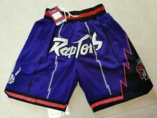 Toronto Raptors Basketball Shorts with Pockets Stitched Pants