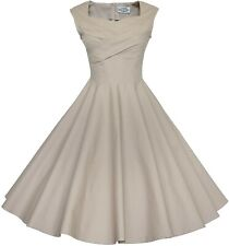Maggie Tang 50s 60s Vintage Swing Picnic Party Casual Cocktail Dress | 3XL