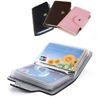 New - 24 Cards Pu Leather Credit ID Business Card Holder Pocket Wallet Unisex