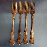 4 Vintage 1880 Williams silver plated servings forks