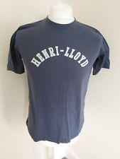Mens Henri Lloyd Designer T Shirt Blue Small 38 Chest Big Spellout
