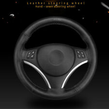 Soft Genuine Leather DIY Car Steering Wheel Cover With Needle and Thread