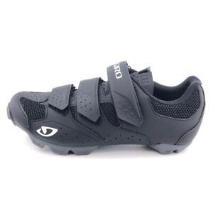 Giro Riela R II Road Cycling Shoes Womens Size 8.5 EUR 40 Black SPD Hook Loop