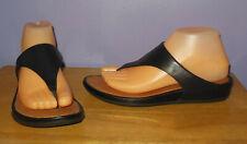 Gorgoeus FitFlop Banda Black Leather Toe Thong Sandals SUPERCOMFF! Size 8