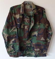 Coat Woodland Camo Combat Pattern Medium Regular Nylon Cotton Jacket New