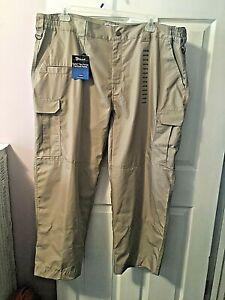 Galls Tac Force Tactical Men's Sz 44 x 29 Khaki Survival Cargo Stretch Pants NEW