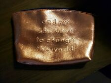 #665 Shero March 2019 Ipsy Glam Bag Cosmetic Metallic Pink Rose Gold *Bag Only