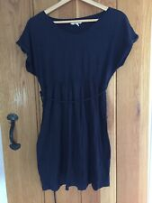 H&M MAMA size M Navy cotton jersey knee length dress GOOD CONDITION