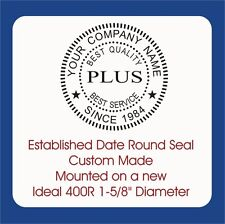 Year Established Round Seal Custom Trodat Ideal 400r Self Inking Rubber Stamp
