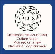 Year Established, Round Seal-Custom Trodat / Ideal 400R Self Inking Rubber Stamp