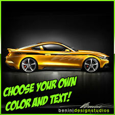 2015 and up Ford Mustang Custom Side Stripe Decals GT Style 4 graphics