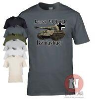 Panzer 6b KonigsTiger tank WW2 German military T-shirt World of war Tanks