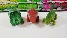 3 Definitely Dinosaurs Playskool, 1987 - Ankylosaurus Proceratops Dimetrodon