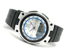 AW-82-7A 10-Year Battery Men Casio Watch Fishing Gear White Blue Moon Phase New