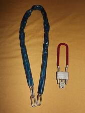 """VINTAGE 36"""" LONG PLASTIC COVERED BICYCLE CHAIN WITH LOCK"""