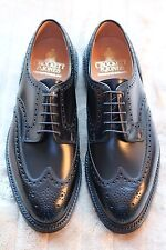 New Crockett Jones Mens Shoes Black Pembroke UK 8.5E US 9.5E EU42.5 Ralph Lauren