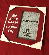 KEEP CALM AND CARRY ON KCCO RED 4 x 6 in PICTURE FRAME INDUSTRIAL CONCEPTS NEW