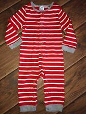 f18e0a72cbe8 NEW BABY BODEN Mini Cotton Red Striped Sleeper One-Piece Romper ~ 3 - 6
