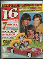 16 Magazine Vol.9 #4 Sept 1967 Cher & Sonny Mike Nesmith Dino Martin   MBX106