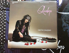 """QUIREBOYS - I Don't Love You Anymore Vinyl 12"""" LP EX 1990 Double Sided Poster"""