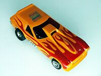 Aurora AFX Vega Van Gasser Orange/ Red Flames HO Slot Car Super Mag Decal HTF