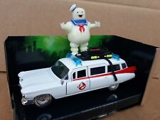 Ghostbusters CADILLAC ECTO 1 DIECAST 5in Model +Stay Puft Marshmallow Man * NEW