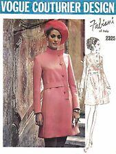 "VINTAGE anni 1970 Sewing Pattern VOGUE Couturier Design FABIANI Vestito Busto 34"""