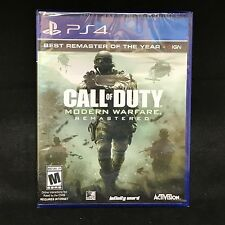 Call of Duty 4: Modern Warfare Remastered (Sony PlayStation 4, 2017) NEW