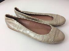 ALAIA Paris new Ballerinas Shoes Flats Gold Metallic Bnwob Size 37 Uk 4 Rrp £695