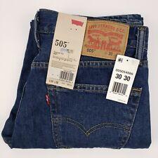 Levis 505 Jeans 32x31 Measured Blue Cotton Mens Denim Jean Regular Fit Straight