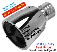 ULTIMATE PRESSURE HIGH FLOW SHOWER HEAD! - OVER 12.5 GPM - DRENCHER!