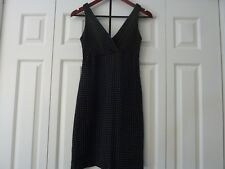 KAY UNGER New York Size 2 Silk Black Polka Dot Dress EUC
