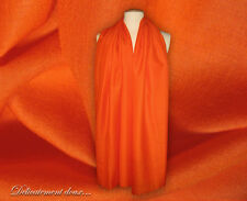 Belle Étole en Laine et en Soie coloris orange - LS31