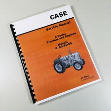 CASE SERIES S SC SO SE TRACTOR SERVICE REPAIR MANUAL TECHNICAL SHOP BOOK