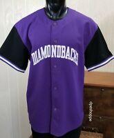 MLB Arizona Diamondbacks Baseball Starter Purple Black Stitched Jersey Sz XL.