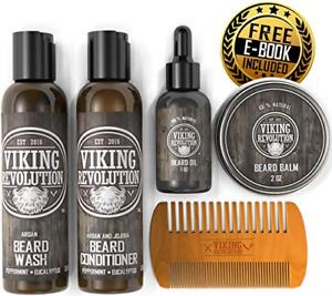 Ultimate Beard Care Conditioner Kit - Beard Grooming Kit for Men Softens, and &